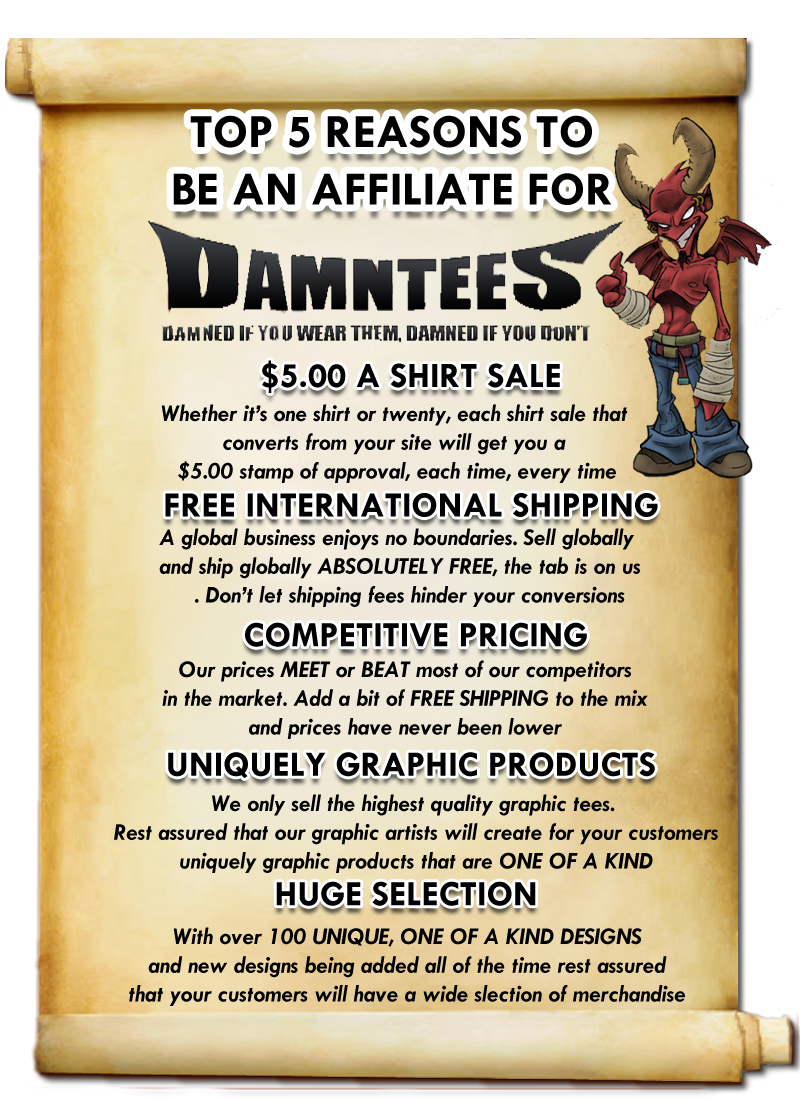 damntees affiliate